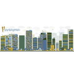 Abstract Panama City skyline vector