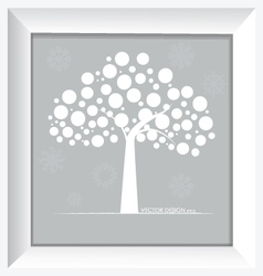 Abstract tree and modern frame vector