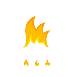 Bright tongues of icon flame on white vector