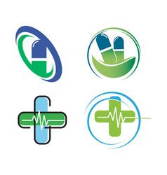 capsule logo modern vector image
