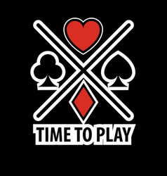 Casino poker logo template gamble play cards vector