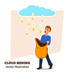 cloud mining 1 vector image