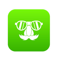 clown face icon digital green vector image