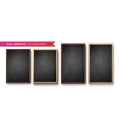 collection menu boards vector image