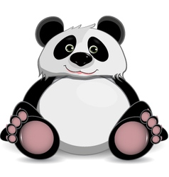Cute fat panda vector