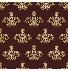 Damask Seamless Pattern Golden Orient Background vector