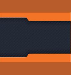 Dark striped background with orange strips vector