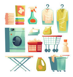 Dry cleaning service laundry equipment vector