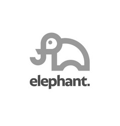 elephant logo design inspiration vector image