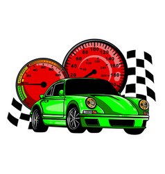 european classic sports car silhouettes outlines vector image