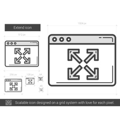 Extend line icon vector
