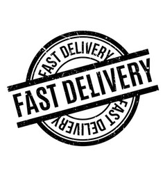 fast delivery rubber stamp vector image