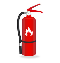 Fire extinguisher isolated on white background vector