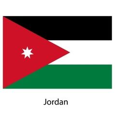 Flag of the country jordan vector image
