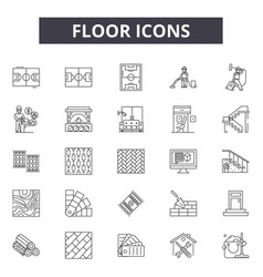 floor icons line icons for web and mobile design vector image