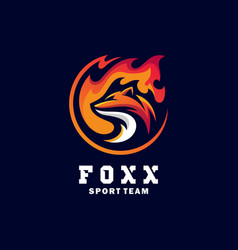 fox sport concept design template vector image