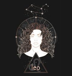 Gold astrology card vector