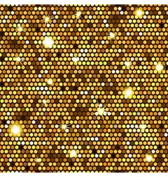 Gold seamless pattern of hexagons vector image