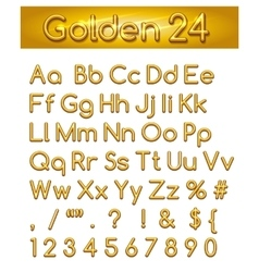 Golden 24 Alphabet vector image