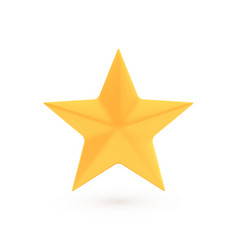 golden christmas star and award concept shiny vector image