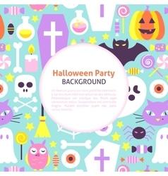 Halloween party trendy background vector