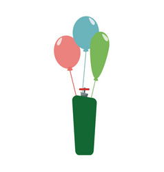 Helium filled balloons carnival decoration vector