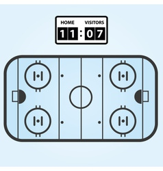 Ice hockey field plan with score board eps10 vector