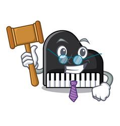 Judge piano mascot cartoon style vector