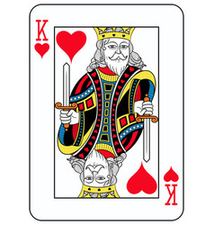 king of hearts french version vector image