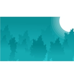Landscape of forest at night backgrounds vector