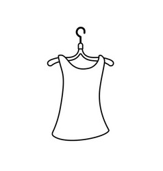 Line woman blouse casual design style vector
