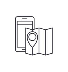 location line icon concept location linear vector image