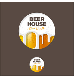 Logo beer foam letters circle vector