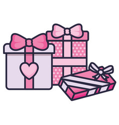 love gifts boxes presents vector image
