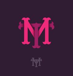 M t monogram vector