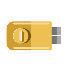 metal door lock with round handle isolated vector image