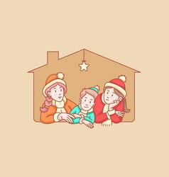 mono tone kids doodle vector image
