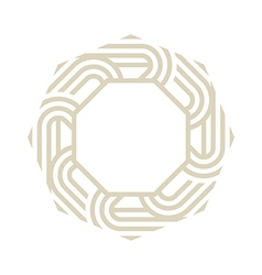 Octagon brown abstract vector