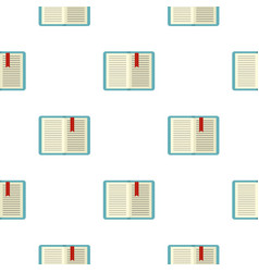 Open tutorial with bookmark pattern flat vector