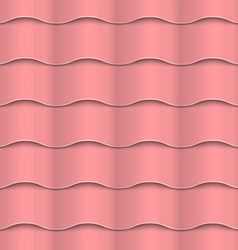 Paper pink seamless wavy pattern vector image