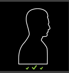 profile side view portrait it is white icon vector image