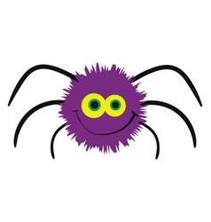 purple spider on white background vector image