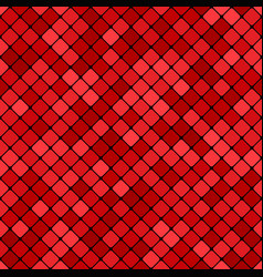 red abstract seamless diagonal square pattern vector image