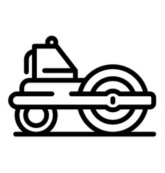 Road roller equipment icon outline style vector
