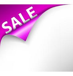 sale corner vector image