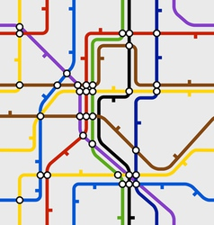 Seamless background of metro scheme vector image