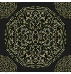 Seamless pattern gold mandala vector image