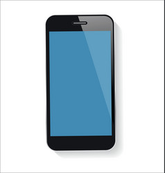 smart phone with blank screen isolated on white vector image