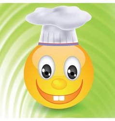 Smile in chefs hat vector