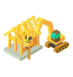 Soil crushing icon isometric style vector